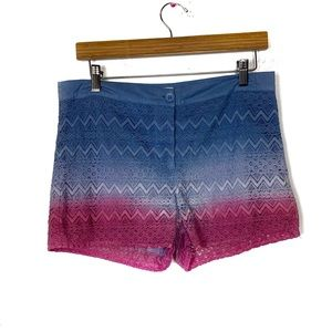 NWOT Flaying tomato lace blue to pink Ombre shorts